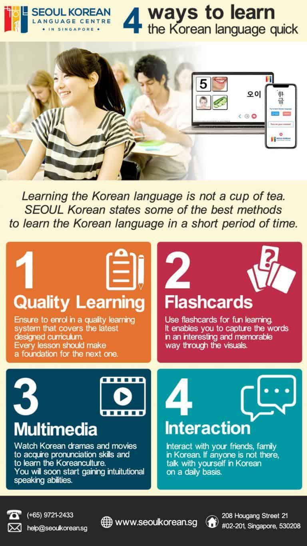 4 ways to learn Korean language