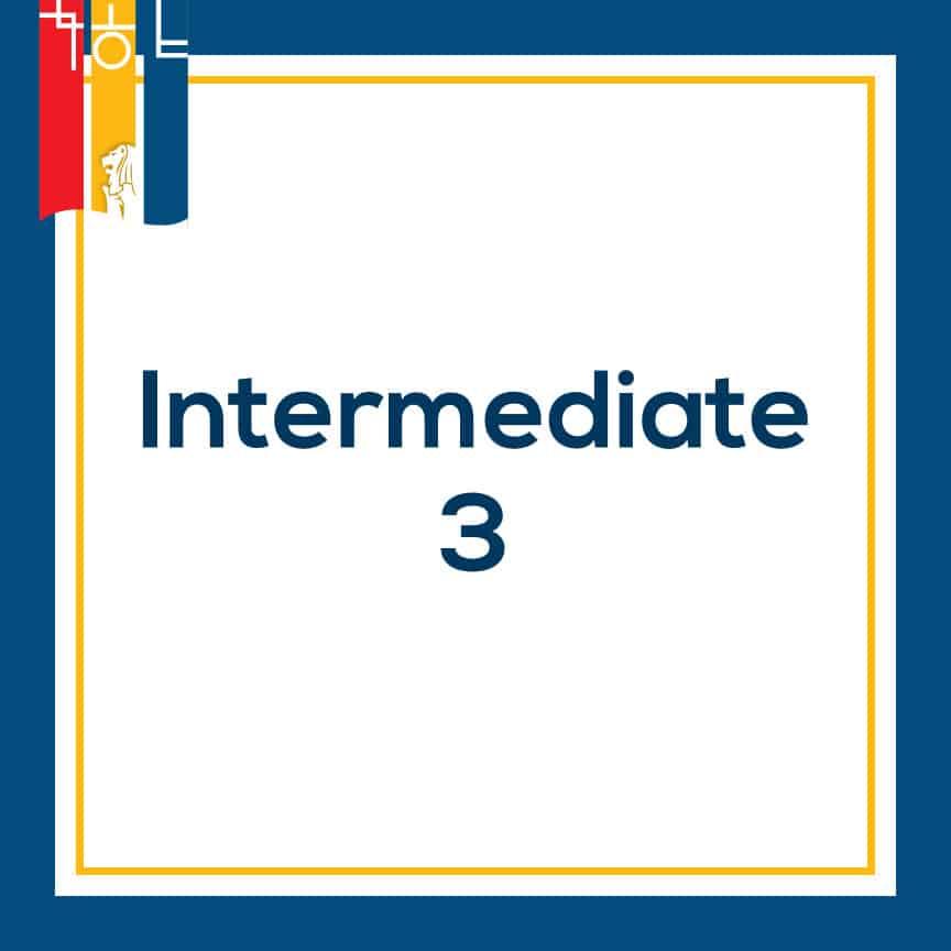 intermediate korean class