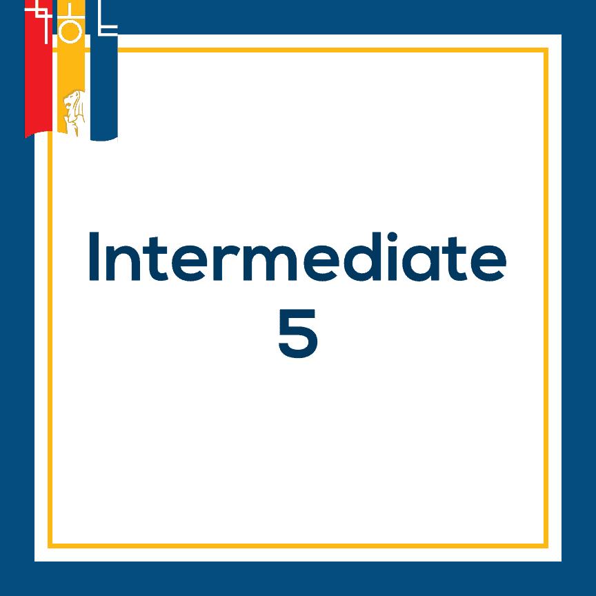 Intermediate 5 Korean language course